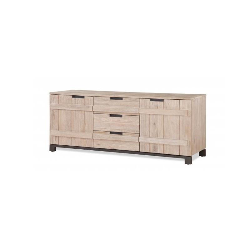 texas bahut 2 portes 3 tiroirs 180cm. Black Bedroom Furniture Sets. Home Design Ideas