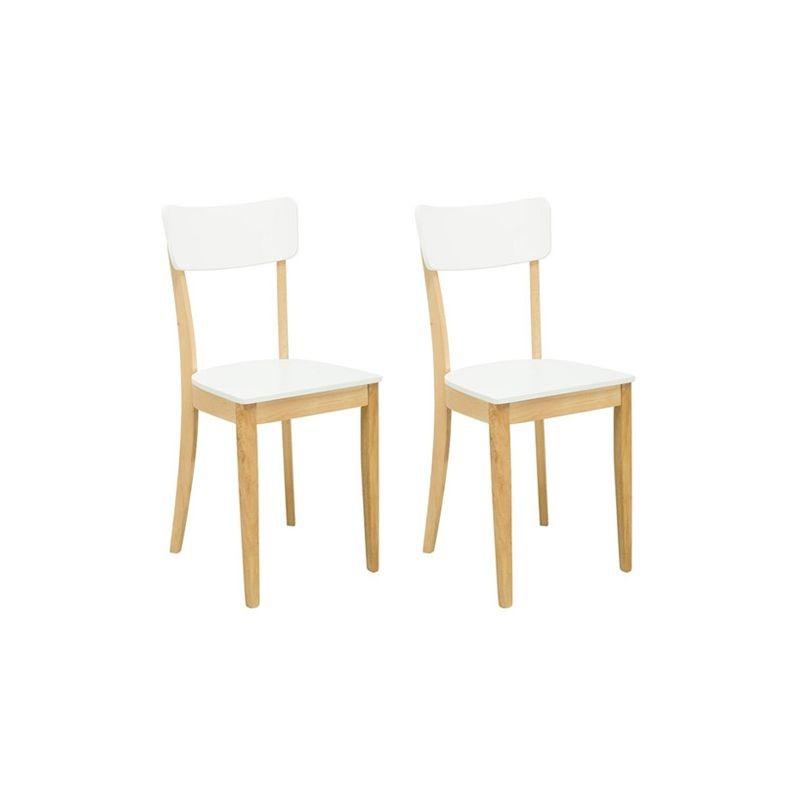 Diara lot de 2 chaises blanches laqu es - Chaises laquees blanches ...