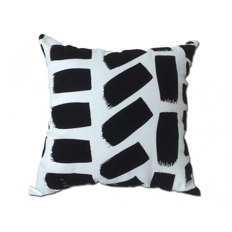 coussin rectangle noir et blanc coussin. Black Bedroom Furniture Sets. Home Design Ideas