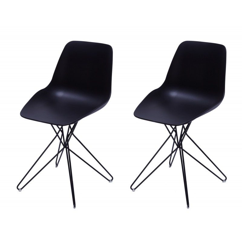 Zappo Lot 2 Chaises Design Contemporain Chaise Meubletmoi