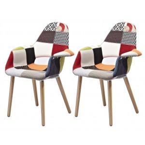 COSY Lot 2 fauteuils  patchwork & déco