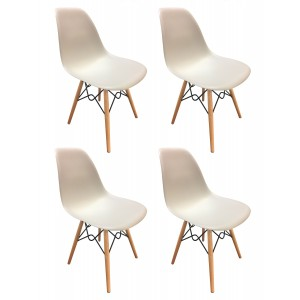 Lot 4 chaises design confort Black&White - RETRO