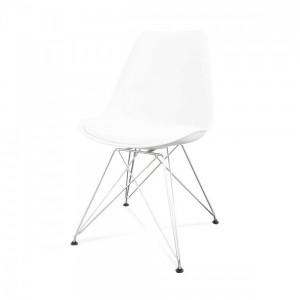 Lot 2 chaises design pieds métal - CATHY