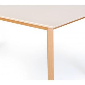 TABLE scandinave extensible blanche 140/180 cm - table à dîner rectangulaire robuste -  LOLA