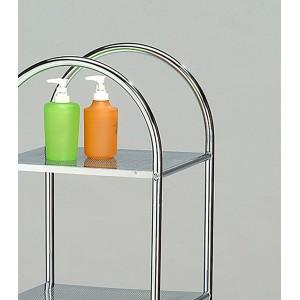 ETAGERE 4 tablettes acier chromé - rangement salle de bains chambre -  STORAGE 04