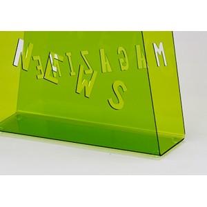 Porte-revues SAC plexiglass vert - range-magazines design moderne - FUNNY VERT