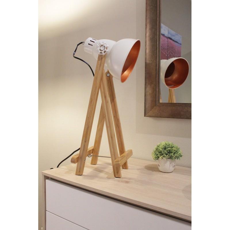 Lampe À Poser Blanc Projecteur Oxi by7gvYf6