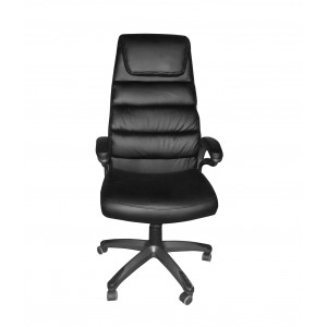 Fauteuil de bureau noir - siège rembourré ergonomique grand confort de qualité Premium - BANK