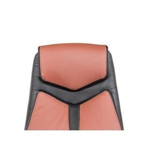 Fauteuil de bureau bicolore noir /ocre - design style baquet sport  - AIR SOFT