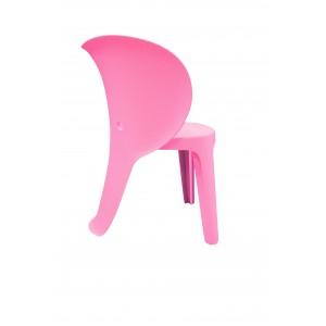 Chaise enfant plastique rose stable et  résistante - chambre décoration, garderie, crêche - Elephanto rose