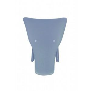 Chaise enfant plastique bleu stable et  résistante - chambre décoration, garderie, crêche - Elephanto bleu