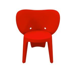 Chaise enfant plastique rouge stable et  résistante - chambre décoration, garderie, crêche - Elephanto rouge