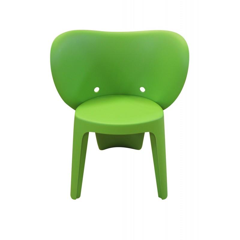 Chaise enfant plastique vert stable et  résistante - chambre décoration, garderie, crêche - Elephanto vert