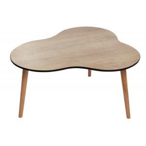 TABLE basse vintage bois naturel trépied - style année50 design nuage - FIFTY