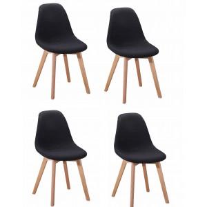 Lot 4 chaises en tissu...