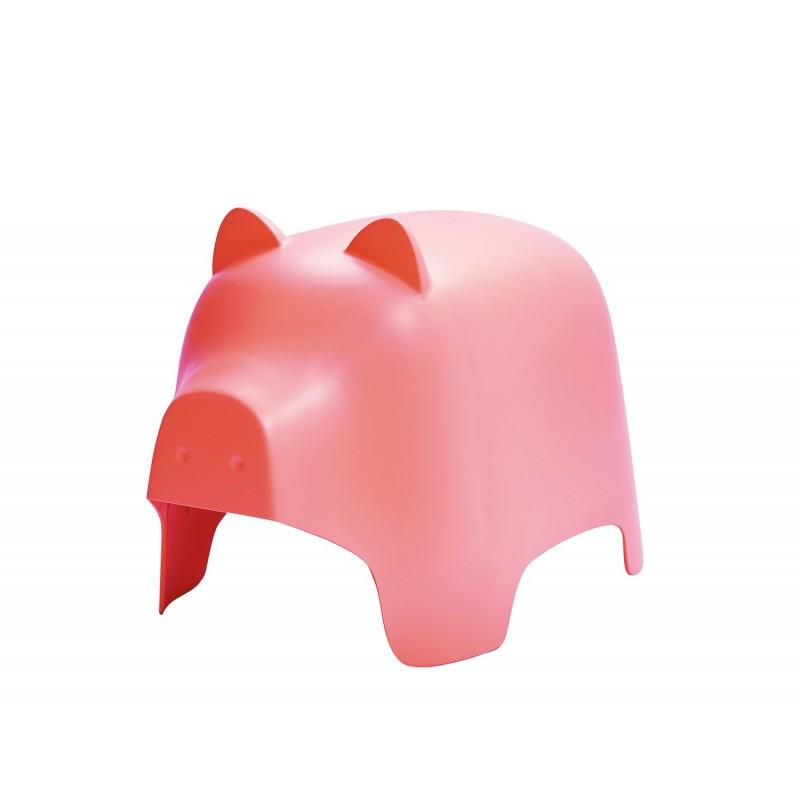 Chaise enfant plastique rose stable et résistante - décoration, chambre, garderie, crêche - COCHON