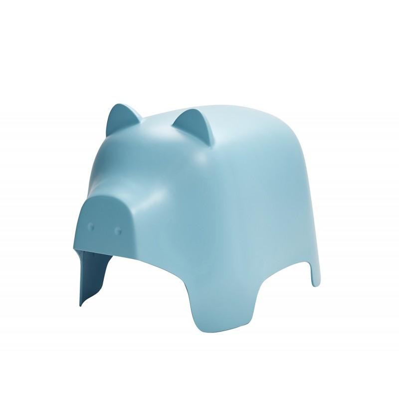 Chaise enfant plastique bleu stable et résistante - décoration, chambre, garderie, crêche - COCHON