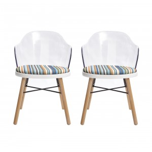 LOT de 2 chaises design - STRIPE