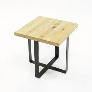 Bout de canapé / table d'appoint en chêne massif et métal - design industriel factory - FABRIK
