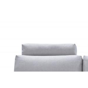 Têtière appuie tête tissu gris clair pour canapé d'angle ALIX - module confort - ALIX