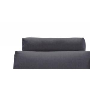 Têtière appuie tête tissu gris anthracite pour canapé d'angle ALIX - module confort - ALIX
