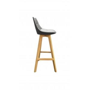 lot 2 tabourets de bar tissu gris style scandinave wendy. Black Bedroom Furniture Sets. Home Design Ideas