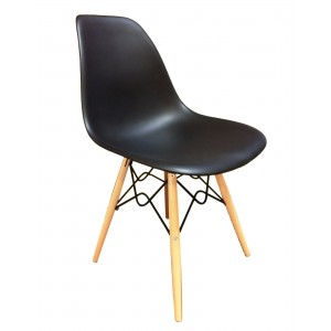 Lot 4 chaises design confort Black - RETRO
