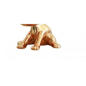 Sculpture petit chien laqué or  - GOLDEN DOG