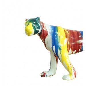 sculpture panthère 41 cm multicolore - PANTHERA