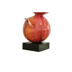 sculpture POMMES 49 cm laquée rouge acidulé  - objet décoratif design contemporain abstrait - DUO POMMES