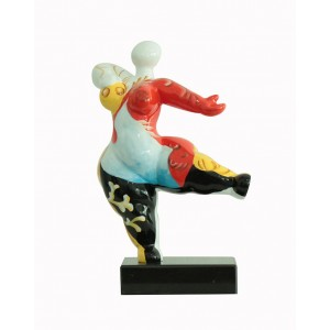 sculpture femme 33 cm danseuse multicolore - statue décorative design contemporain  - LADY SPAIN