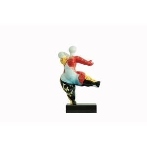 sculpture femme 33 cm danseuse multicolore - statue décorative design contemporain  - LADY SPAIN