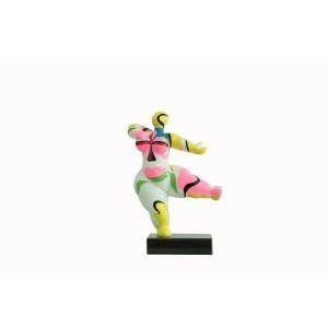 sculpture femme 33 cm danseuse multicolore style art surréalisme - statue décorative design contemporain abstrait  - LADY POP