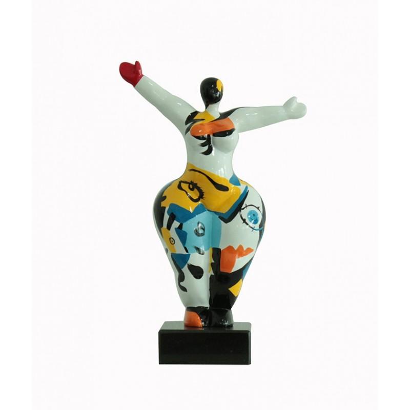 Sculpture Femme style abstrait 34 cm Bras levées - Lady Sun ART