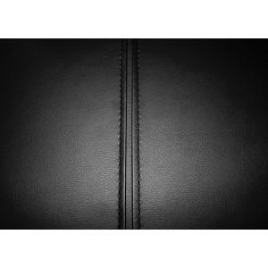 Tabouret de bar NOIR avec dossier et repose-pied - simili confortable - piétement métal réglable - JOHNNY