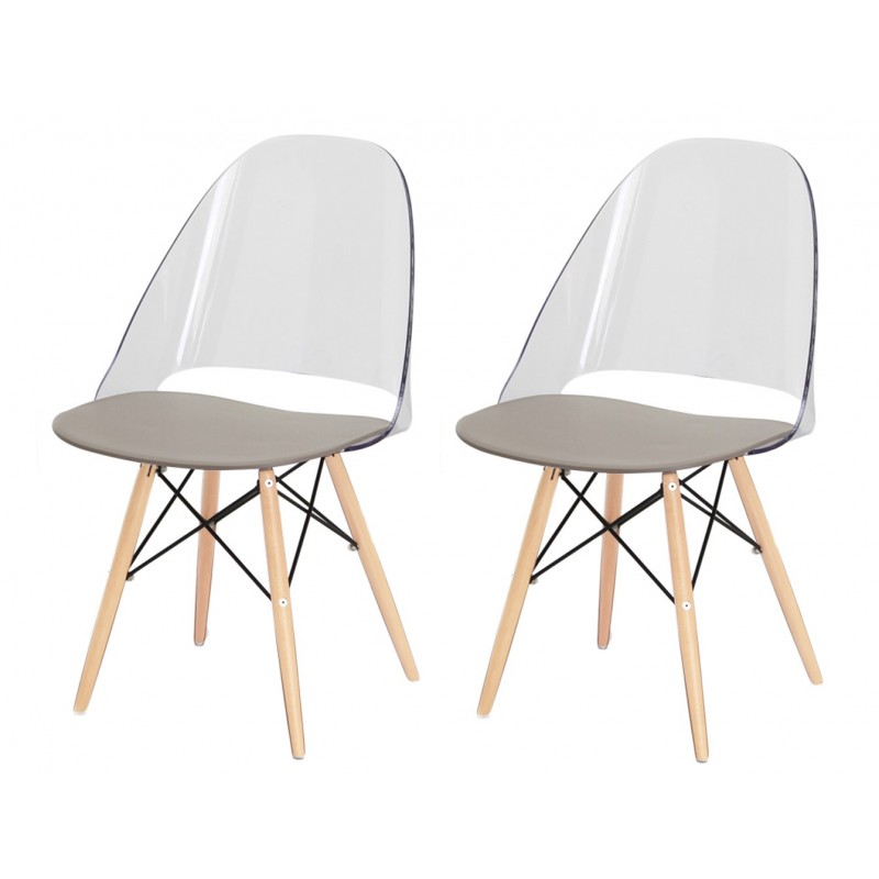 Lot 2 chaises transparentes by Lodovico Bernardi - ANNIE