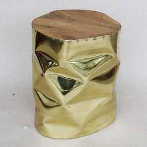 Tabouret bout de canap dor stool gold - Bout de canape dore ...
