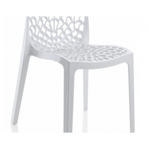 Blanches 6 Chaises Ajourées Lot Empilables Gruyer 67gbfy