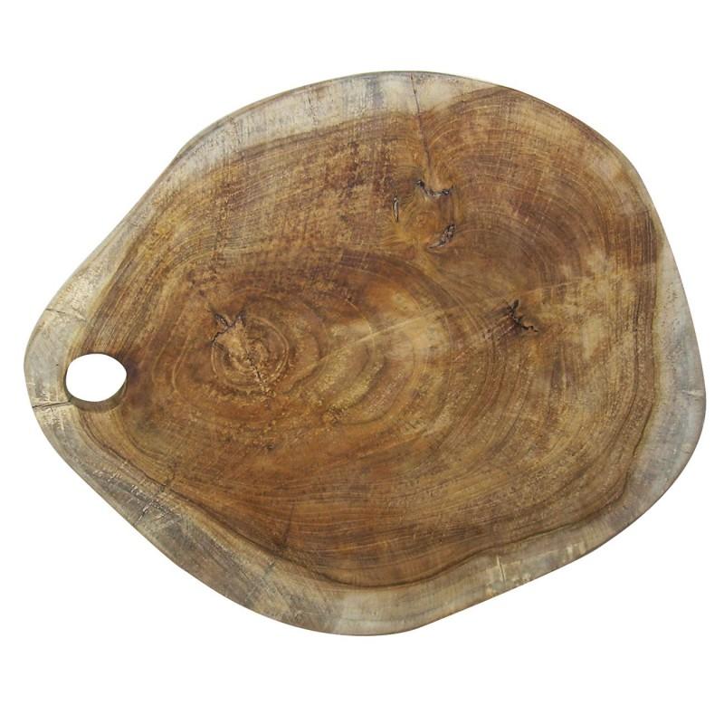 Planche à découper en teck au design naturel - résistante et higiènique - CHOPPING BLOCK 02