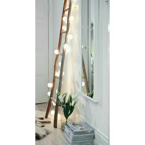 Echelle décorative en teck - style scandinave,cosy naturel, bohème chic - TO THE TOP