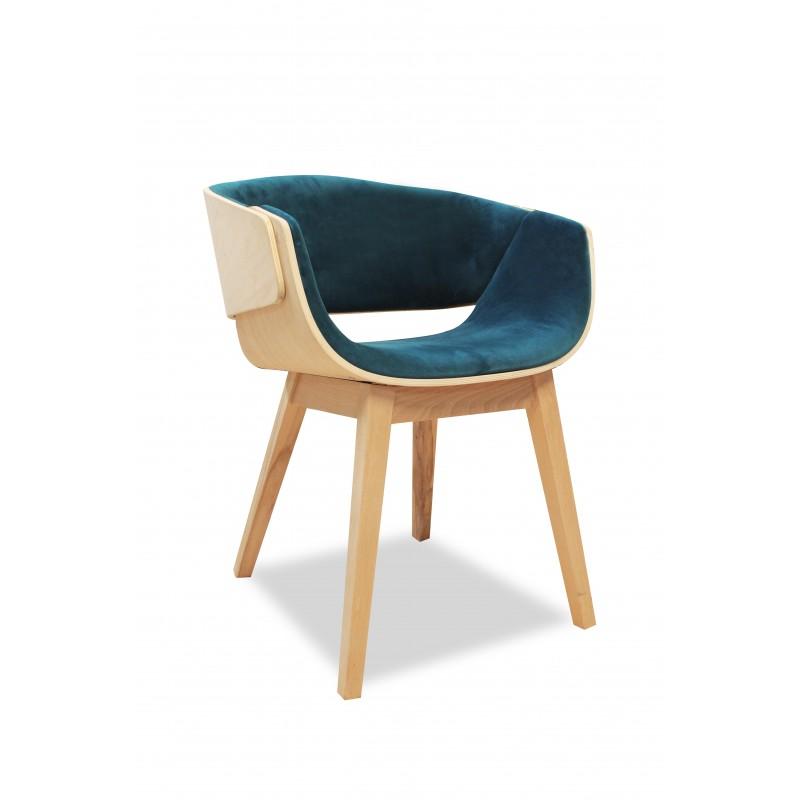 fauteuil design bleu canard velours spoon. Black Bedroom Furniture Sets. Home Design Ideas