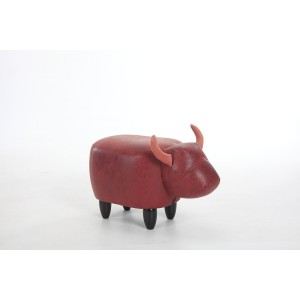 Pouf enfant design vache marron  - MARGUERITE