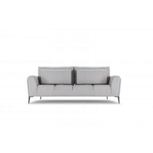 Canapé 3 places tissu gris clair modulable -  dossiers mobiles - Qualité Confort Best Premium - ALIX
