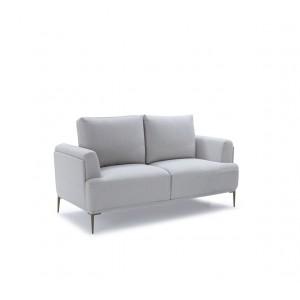 Canapé 2 places tissu gris clair modulable -  dossiers mobiles - Qualité Confort Best Premium - ALIX