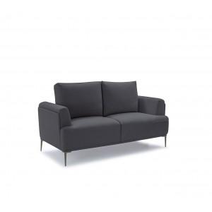 Canapé 2 places tissu gris anthracite modulable -  dossiers mobiles - Qualité Confort Best Premium - ALIX