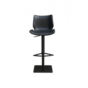 Tabouret de bar simili noir ergonomique - Premium Collection & Design contemporain - TRAVIS