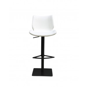 Tabouret de bar simili blanc ergonomique - Premium Collection & Design contemporain - TRAVIS