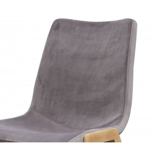 lot 4 - Chaises tissu velours taupe gris - ASAMI taupe