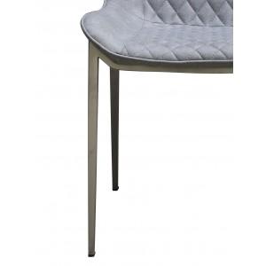 lot 4 - Chaises simili gris - JUNE
