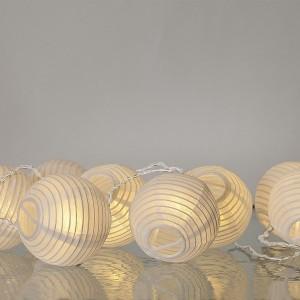 Guirlande lumineuse boules en papier 3,10 m
